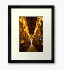 Inside St. Mary's Cathedral, Sydney Framed Print