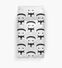 Esme the bunny mascot: black & white dress Duvet Cover