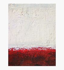 Simply Red 4 - mixed media abstract painting on canvas  Photographic Print