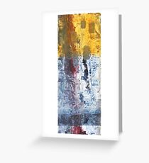 So Gradual The Grace - abstract mixed media painting on canvas Greeting Card