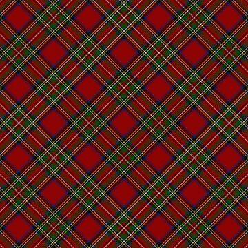 Royal Stewart Tartan Stuart Clan Plaid Tartan by podartist
