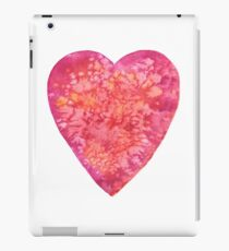 BE MY VALENTINE - watercolor heart painting iPad Case/Skin