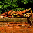 Tigress  Body paint - Back to the Camera by TheFotogArtist