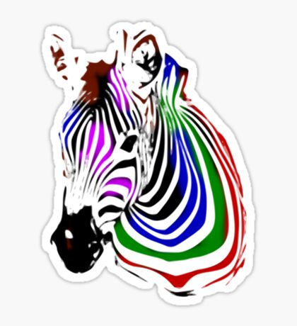 technicolour zebra Sticker
