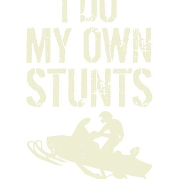 I do all my own snowmobile stunts by dealzillas