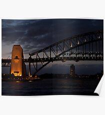 Sydney Harbor  bridge Pylon Poster