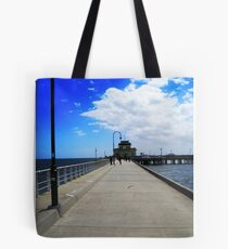 St Kilda Pier for an icecream, Victoria Australia Tote Bag