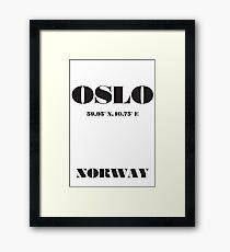 OSLO Norway Typography Framed Print
