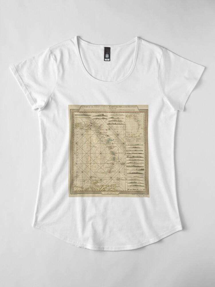 Alternative Ansicht von Antillen Charibbee Karibik Virgin Isles Karte (1784) Premium Rundhals-Shirt