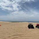 Quad biking at Stockton Sand Dunes, Port Stephens, Australia by Mariam Kabbout