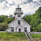 Old Mission Point Lighthouse by Monnie Ryan