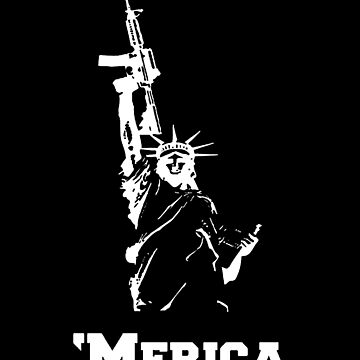 Statue of Liberty with Gun (White) by MillSociety