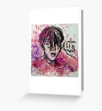 Lil Peep Watercolour  Greeting Card