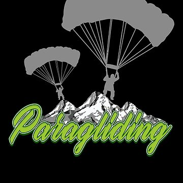 Paragliding paragliders gliding skydivers wind sky gift  by design2try