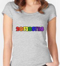 2QT2BSTR8 Women's Fitted Scoop T-Shirt