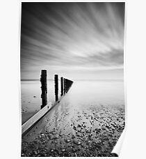 Calm sea, racing sky. Bognor Regis. Poster