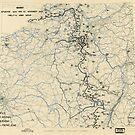 Zwölftes Heeresgruppe Lageplan 23. November 1944 von allhistory