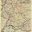 Zwölfte Armeegruppen-Lagekarte des 2. Weltkrieges 26. Juli 1945 von allhistory