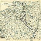 Zwölfter Heeresgruppe Lageplan 13. Januar 1945 von allhistory