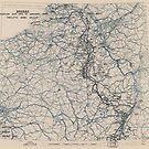 Zwölfter Armeegruppe - Lageplan vom 22. Januar 1945 von allhistory