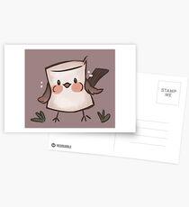 Marshmallow Bird (textless) Postcards