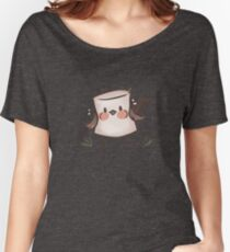 Marshmallow Bird (textless) Women's Relaxed Fit T-Shirt