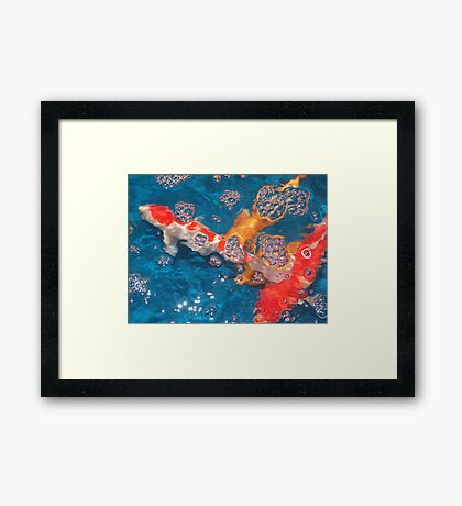 Swim in the Bubbly Framed Print