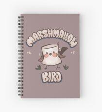 Marshmallow Bird Spiral Notebook