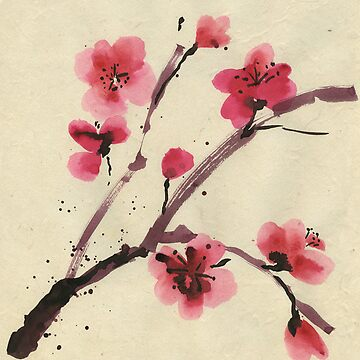 Flowering cherry. Spring. by Mikhalevich