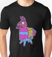 Lama Kiste Fortnit Llama Geschenk Fallschirm Unisex T-Shirt