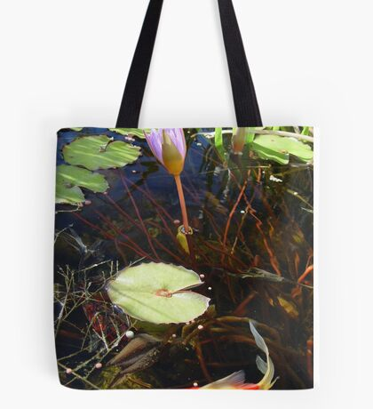 Koi and Waterlily Tote Bag