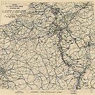 Zwölfte Armeegruppen-Lagekarte des 2. Weltkrieges 26. Februar 1945 von allhistory