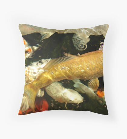 Swimming by... Throw Pillow