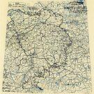 Zwölfter Armeegruppe - Lageplan 23. April 1945 von allhistory