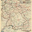 Zwölfter Heeresgruppe Lageplan 15. Juni 1945 von allhistory