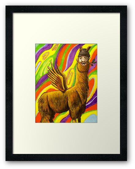 The Flying Llama Dude by JSchultz