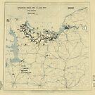 Zwölfter Armeegruppe - Lageplan 13. Juni 1944 von allhistory