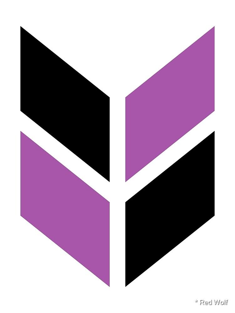 Geometric Pattern: Chevron: Black/Purple by * Red Wolf