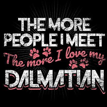 Dalmatian dog owner by GeschenkIdee
