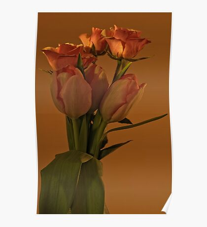 Peach Tulips and Roses - Ottawa, Ontario Poster