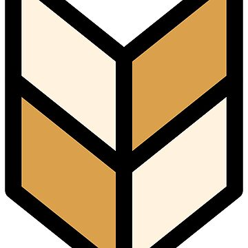 Geometric Pattern: Chevron: Cream/Gold by redwolfoz