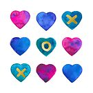 Tic Tac Toe Hearts by Cynthia Haller