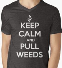 Keep Calm and Pull Weeds Gardening T Shirt Men's V-Neck T-Shirt