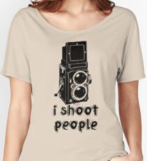 TLR Camera - I Shoot People Photography T Shirt Women's Relaxed Fit T-Shirt