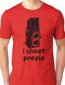 TLR Camera - I Shoot People Photography T Shirt Unisex T-Shirt
