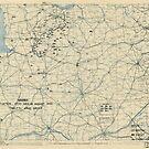 Zwölftes Heeresgruppe Lageplan 13. August 1944 von allhistory