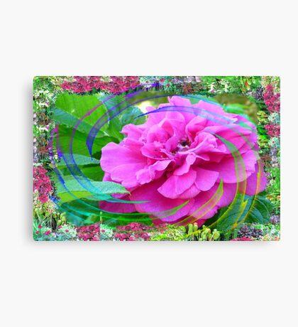 Rose Swirl In My Flower Garden Canvas Print