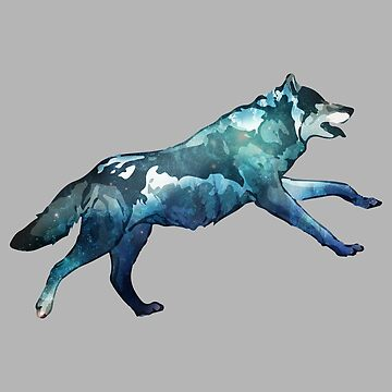 Double Exposure Animals Wolf Running - Gift Idea by vicoli-shirts