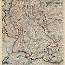 Zwölfter Heeresgruppe Lageplan 23. Mai 1945 von allhistory