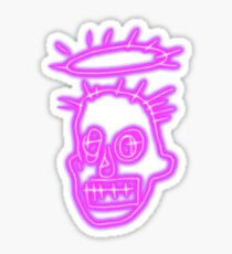 Neon Basquiat Sticker